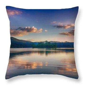 Alder Lake Sunset Throw Pillow