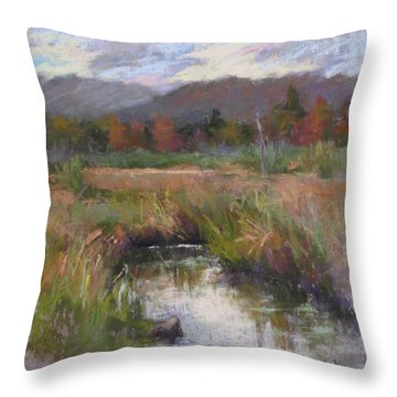Alder Meadow September Throw Pillow by Susan Williamson