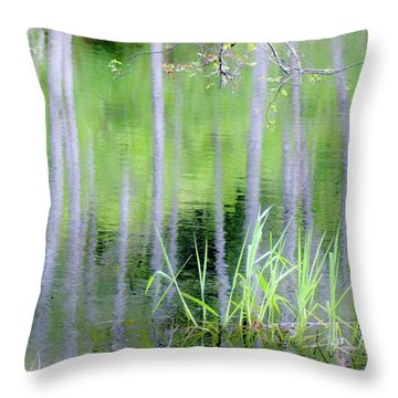 Alder Reflections Throw Pillow by Sheila Ping
