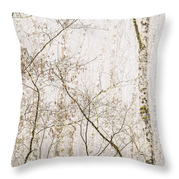 Alders In The Fog Throw Pillow