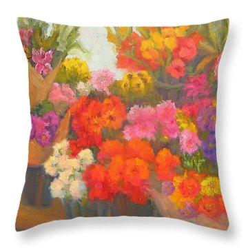 Alegria De Vivir Throw Pillow by Bunny Oliver