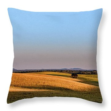 Alentejo Fields Throw Pillow by Marion McCristall