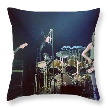 Alex Geddy And Neil Throw Pillow