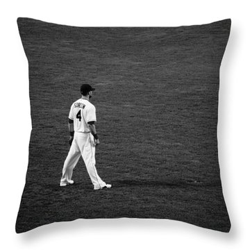 Alex Gordon Black And White Throw Pillow