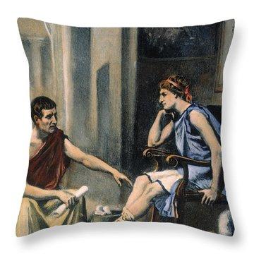 Alexander & Aristotle Throw Pillow by Granger