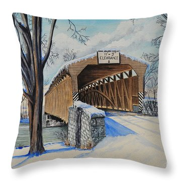 Alexander Bridge Throw Pillow