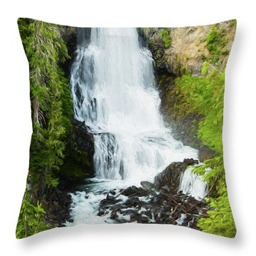 Throw Pillow featuring the photograph Alexander Falls - 2 by Stephen Stookey