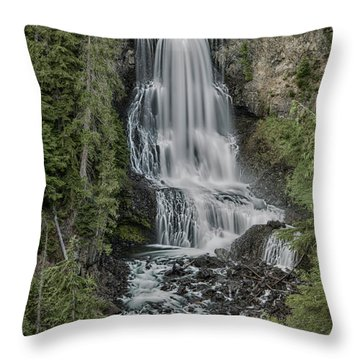 Throw Pillow featuring the photograph Alexander Falls by Stephen Stookey