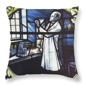 Alexander Fleming, Scottish Biologist Throw Pillow by Science Source