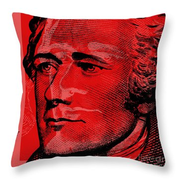 Alexander Hamilton - $10 Bill Throw Pillow