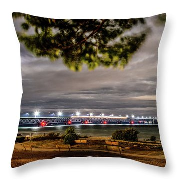 Throw Pillow featuring the photograph State Park Entrance by Onyonet  Photo Studios