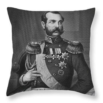 Alexander II (1818-1881) Throw Pillow by Granger