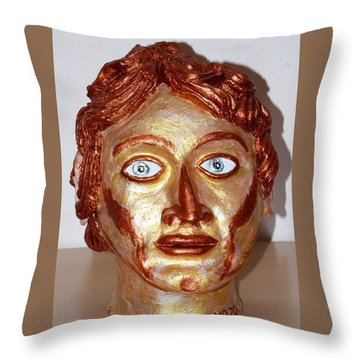 Alexander The Great Throw Pillow by Valerie Ornstein