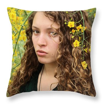 Alexandra On Planet Earth Day Throw Pillow