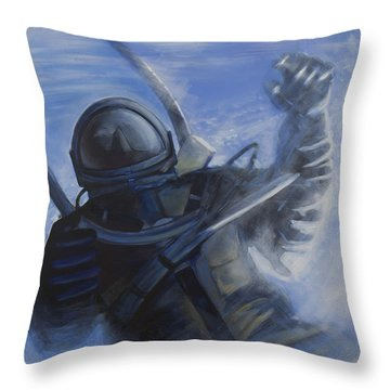 Alexei Leonov Throw Pillow by Simon Kregar