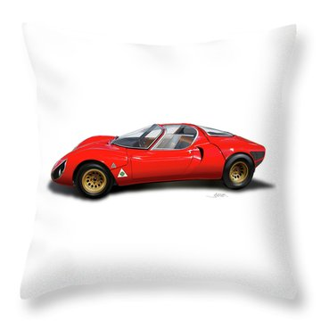 Alfa Romeo 33 Stradale 1967 Throw Pillow