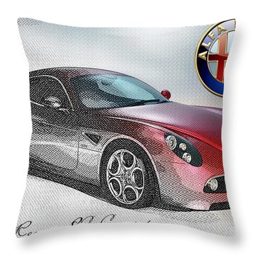 Alfa Romeo 8c Competizione  Throw Pillow