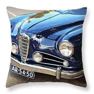 Alfa Romeo In Blue Throw Pillow
