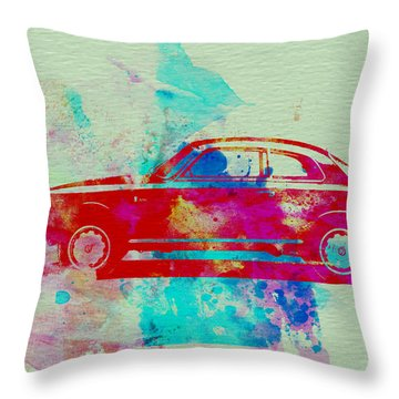 Alfa Romeo  Watercolor 2 Throw Pillow by Naxart Studio