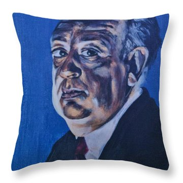 Alfred Hitchcock Throw Pillow