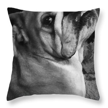 Alfred Hitchcock Bullie Pose Throw Pillow