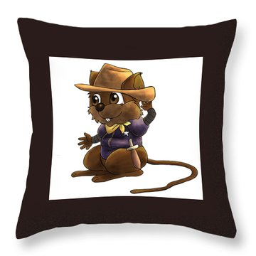 Deputy Alfred Throw Pillow