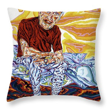 Alfred's Last Days Throw Pillow by Robert SORENSEN