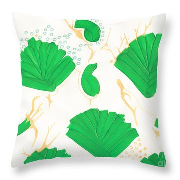 Algae Blooms Throw Pillow by Mary Mikawoz