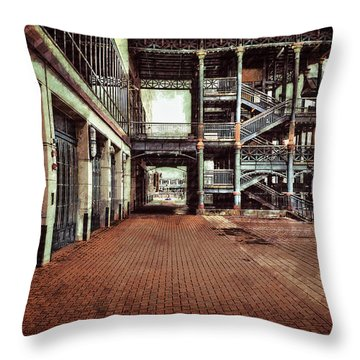 Algiers Ferry Dock Throw Pillow