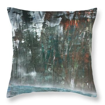 Algonquin Forest River Throw Pillow