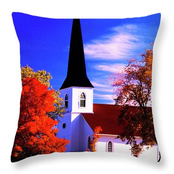 Algonquin Rd Church St Johns United  Throw Pillow