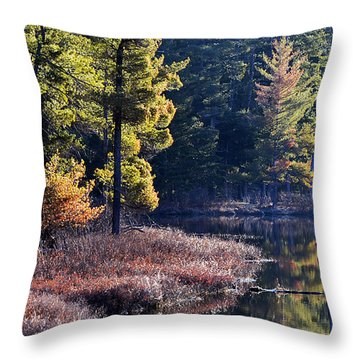 Algonquin Sunrise Reflection Throw Pillow