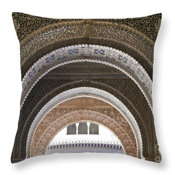 Alhambra Arches Throw Pillow by Jane Rix