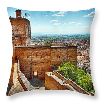 Alhambra Tower Throw Pillow