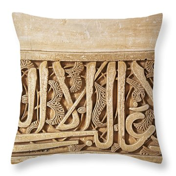 Alhambra Wall Detail4 Throw Pillow