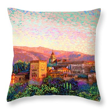 Alhambra, Granada, Spain Throw Pillow