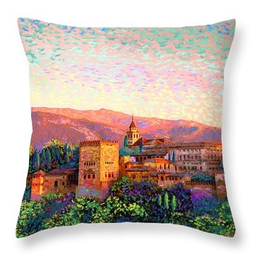 Alhambra, Grenada, Spain Throw Pillow by Jane Small