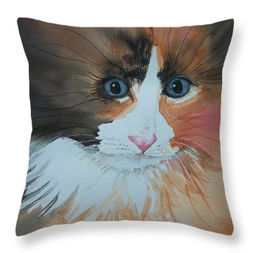 Ali Cat Abstract Throw Pillow by Lynn Babineau