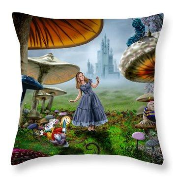 Ali In Wonderland Throw Pillow