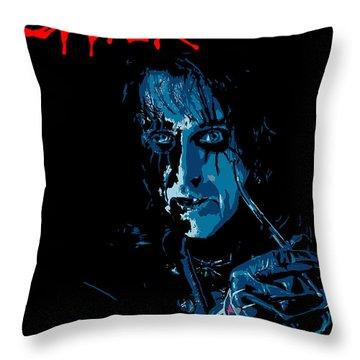 Alice Cooper Throw Pillow by Caio Caldas