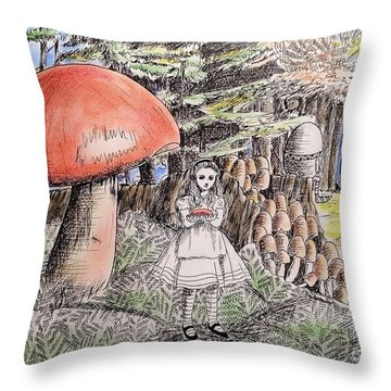 Alice In Wonderland 2 Throw Pillow by Keiko Olds