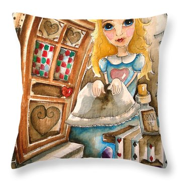 Alice In Wonderland 2 Throw Pillow by Lucia Stewart