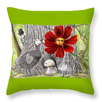 Alice In Wonderland 3 Throw Pillow by Keiko Olds