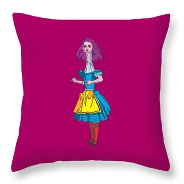Alice In Wonderland - Alices Adventures In Wonderland - Ask Alice Throw Pillow