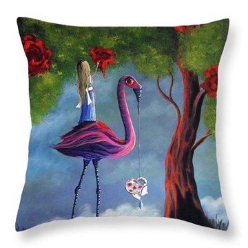 Alice In Wonderland Artwork  Throw Pillow