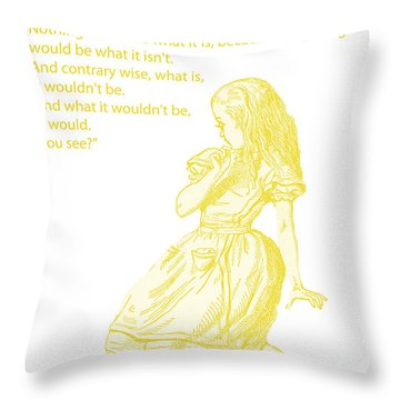 Alice In Wonderland - If I Had A World Of My Own Throw Pillow