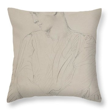 Alice Ozy Throw Pillow by Theodore Chasseriau
