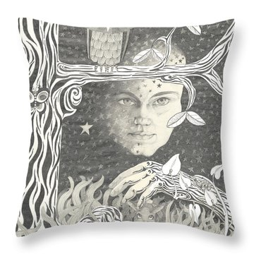 Alice Syndrome Throw Pillow by Melinda Dare Benfield
