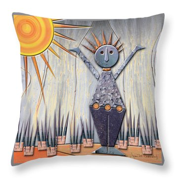 Alice The Goddess Of August Throw Pillow by Joan Ladendorf