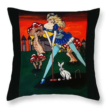 Alice's  In Wonderland Throw Pillow
